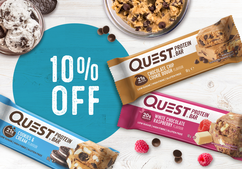 10% off Quest Bars