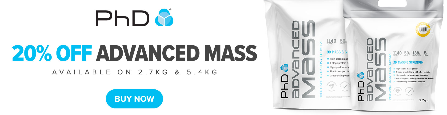 20% off Advanced Mass