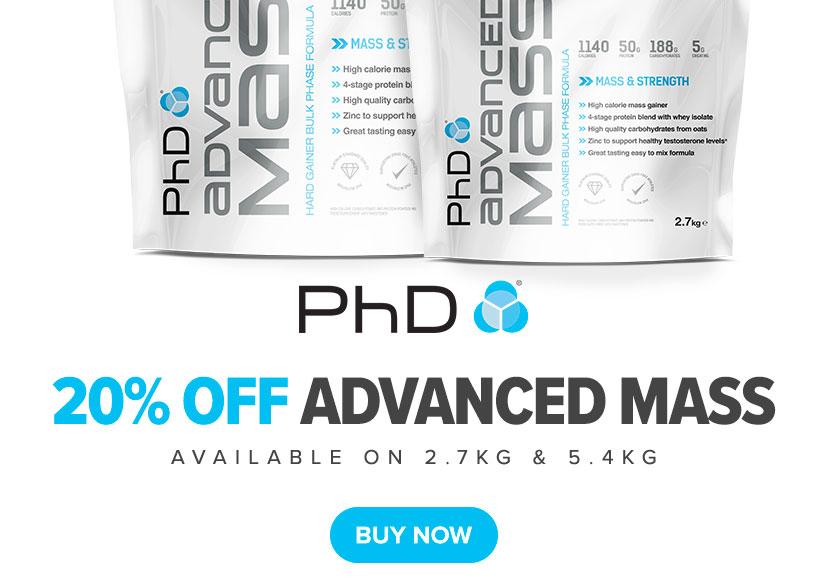 20% off Advanced Mass