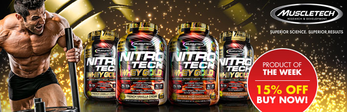 Product of the Week - Muscletech Nitro Tech 100% Whey Gold