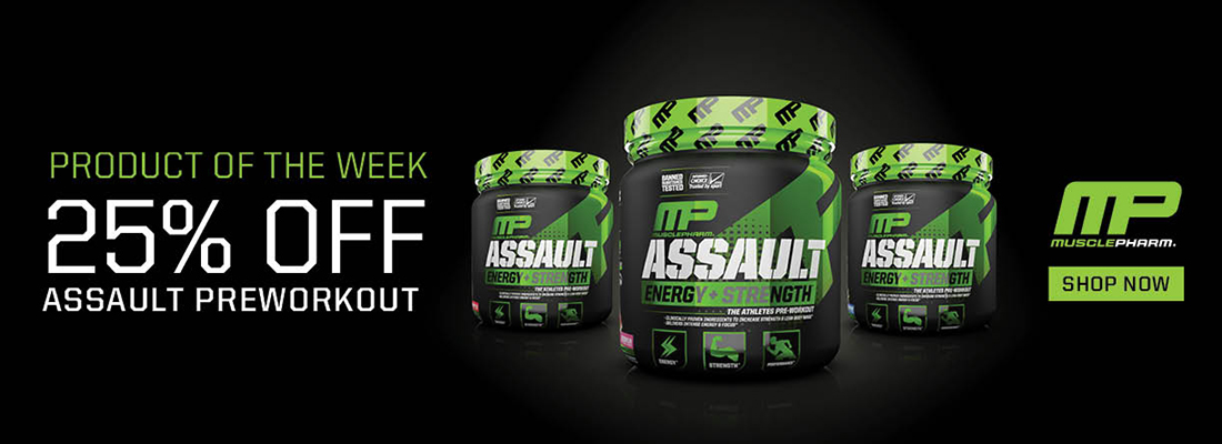 Product of the Week - 25% off Musclepharm Assault