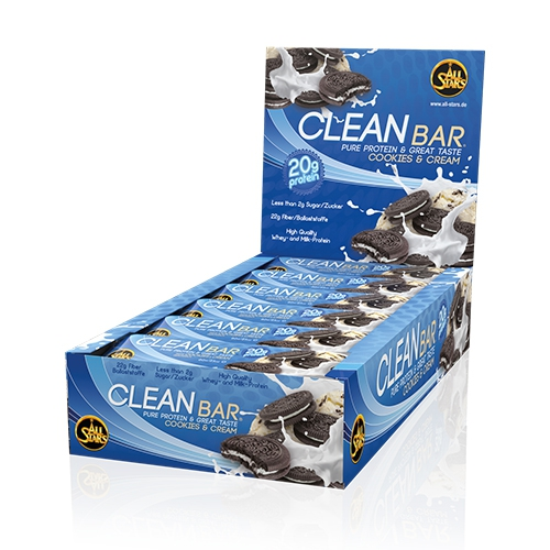 All Stars Cleanbar (18x60g) Cookies Cream