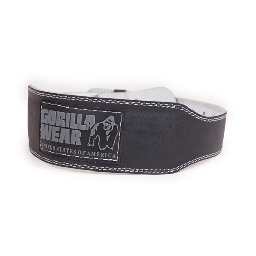 4 Inch Padded Leather Belt (Black)