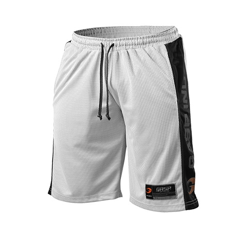 No1 Mesh Shorts (White/Black)