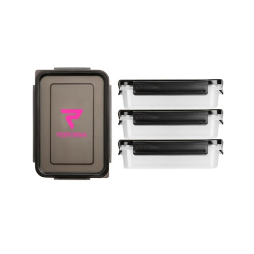 MEAL CONTAINER PERFORMA BLACK/PINK