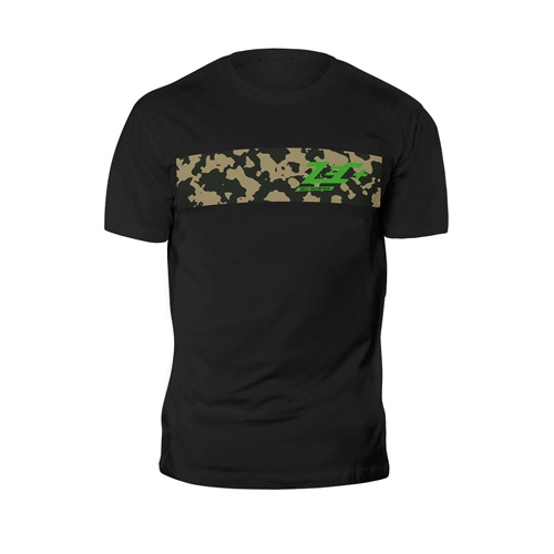 T-Shirt Camou Shirt Black Green Logo