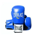 Leather Boxing Glove Fighter (Black/Blue)