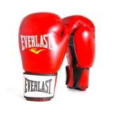 Leather Boxing Glove Fighter (Red/Black)