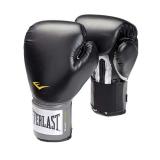 Leather Velcro Training Glove (Black)
