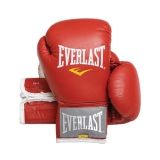 Leather Velcro Training Glove (Red)