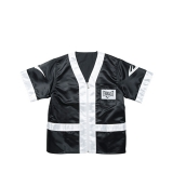 100% Polyester Satin Corner Jacket (Black/White)
