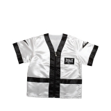 100% Polyester Satin Corner Jacket (White/Black)