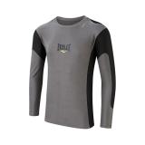 Mens L/Sleeve Rash Guard Contrast Panel (Grey/Black)