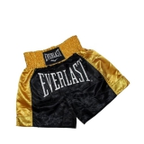 EM6 Mens Thai Boxing Short (Black/Gold)