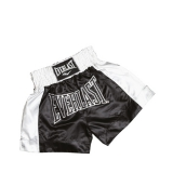 EM6 Mens Thai Boxing Short (Black/White)