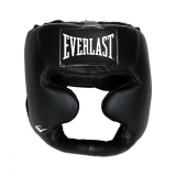 Leather Full Protect Headgear (Black)