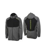 Musclepharm Sportswear Mens F/Z Hoodie with Contrast Panels Grey Marl (MPSWT520) (damaged)