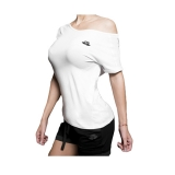 Drop Shoulder Tee (White)