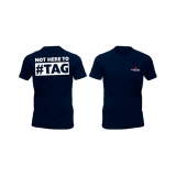 T-Shirt - Not here to hashtag (Black)
