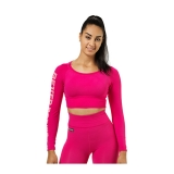 Bowery Cropped LS (Hot Pink)