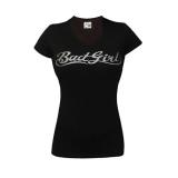 Badgirl V-Neck Tee (Black/Silver) (discontinued)
